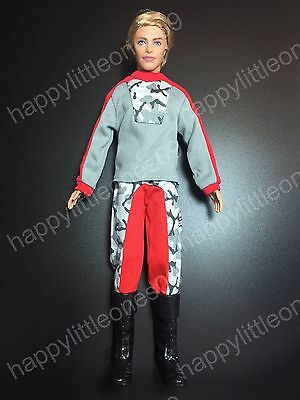 Ken Doll Casual Sports Men's Suit Outfit Clothes Uniform & Tall Boots Barbie New