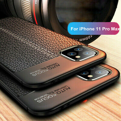 For iPhone 11 Pro Max 11 Pro 11 Luxury Ultra Slim Rubber Leather Soft Case Cover