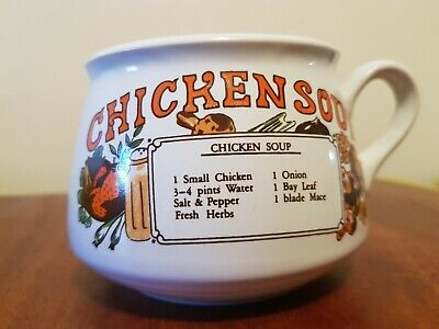 Vintage soup bowl (chicken soup )1970s