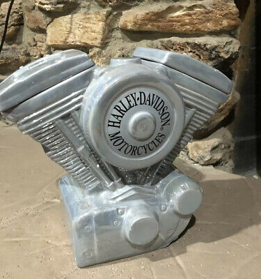 Harley Davidson Motorcycles Engine Cookie Jar (Limited Edition READ) Collectible
