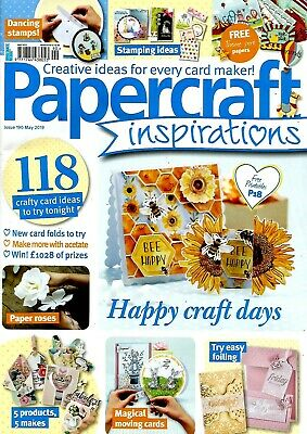 Papercraft Inspirations  Magazine Issue 190.  May 2019.   Free Gift