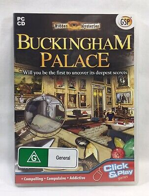 Buckingham Palace Hidden Object - PC CD-Rom Computer Game 2009 Avanquest Rated G