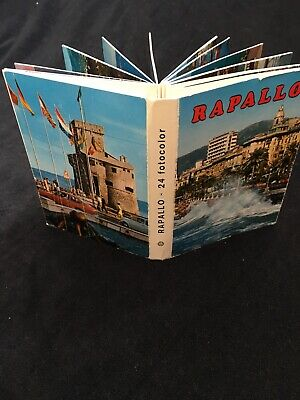 Deceased Estate, Foldout Picture Book - Postcard, RAPALLO, ITALY 1960s