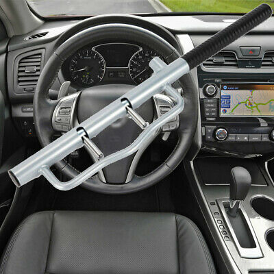 100% New Anti Theft Lock Car Vehicle Mount Steering Wheel Security With 2 Keys