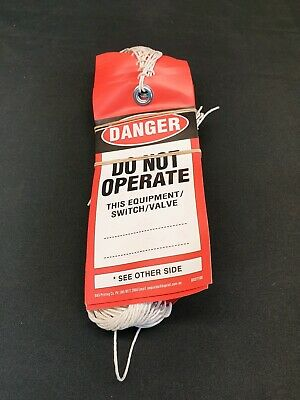 50 pack of Danger Do Not Operate Safety Lockout Tag BSDT100 B&S Printing