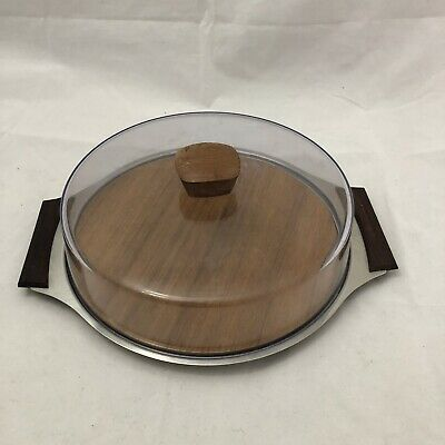 Vintage KKH Stainless steel Covered Serving Tray. Great Condition