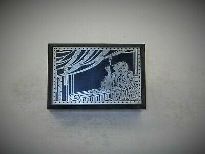 Rare French Art Deco Bakelite Cigarette Box Overlaid With Chrome Woman Smoking