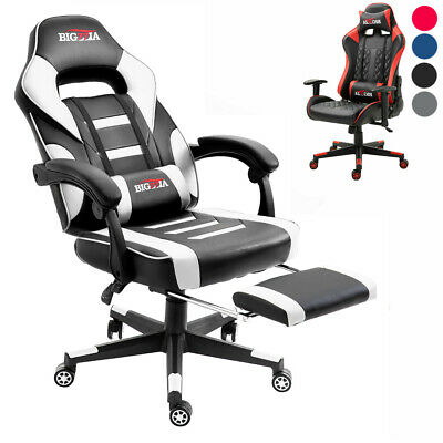 Office Chair Executive Racing Gaming Chairs Adjustable Swivel Recliner Leather