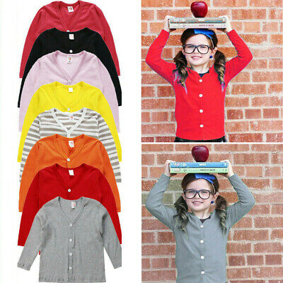 Uk Toddler Infant Kids Baby Girls Clothes Knitted Coat Sweater Cardigan Tops