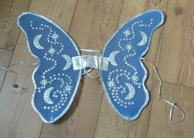 Fairy Wings - Adult or Child - MOON STARS BLUE SPARKLY