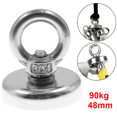 1X48mm Recovery Magnet VERY STRONG sea fishing diving treasure hunting upto 96kg