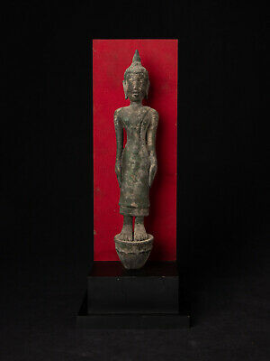 Antique bronze Laos Buddha statue from Laos, 17th century - possible earlier