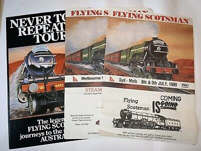 The Flying Scotsman's Tour Of Australia Flyers 1988/89 x 3(very Good condition)