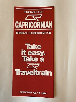 Queensland Rail 'Capricornian' Brochure July 1986 (excellent condition)
