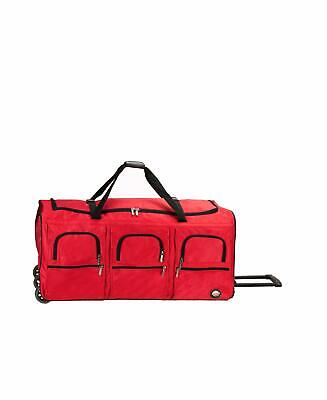 Rockland Luggage 40 Inch Rolling Duffle Bag Red X-Large