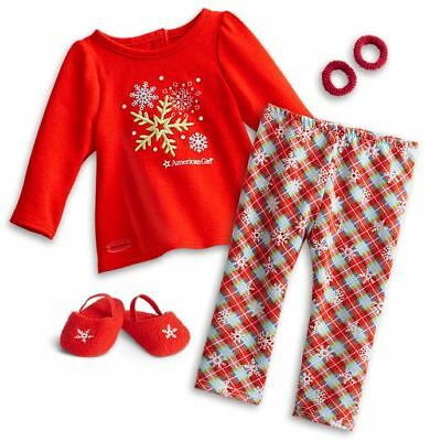 "* GENUINE AMERICAN GIRL 18"" OUTFIT Holiday Dreams Pyjamas PJs for Doll - NEW NIB"