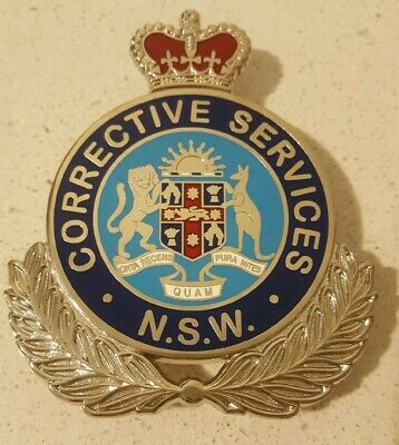 NEW SOUTH WALES CORRECTIVE SERVICES metal badge  variant