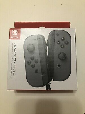 Nintendo - Joy-Con (L/R) Wireless Controllers for Nintendo Switch - Gray-NEW