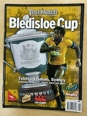 Australia Wallabies v New Zealand All Blacks 2003 Rugby match program Umaga