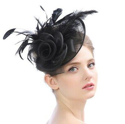 Luxury Large Headband Clip Hat Fascinator Weddings Ladies Day Royal Ascot