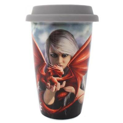 Anne Stokes boxed Travel Mug featuring the Dragonkin design