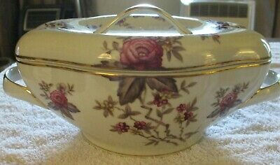 Vintage Occupied Japan Meito Norleans Rosanne China Pattern Soup Tureen