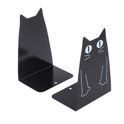 1 Pair Metal Bookends Cartoon Heavy Duty Magazines Organiser for Magazines Files