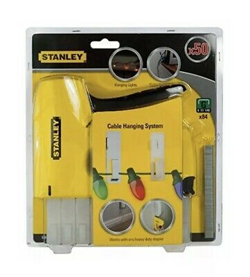 Stanley Heavy Duty Staple Gun 0-TR151Y Cable Hanging System Holiday Lights Xmas