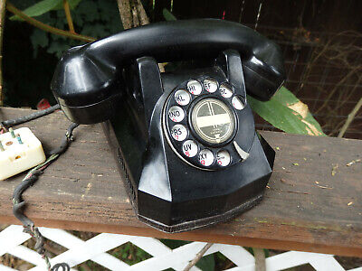 Vintage Telephone Phone Bakelite Automatic Electric Co. Monophone