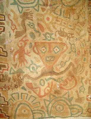 Pre-Columbian Peru Chancay Painted Textile
