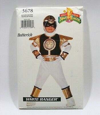 1994 Power Rangers WHITE Ranger, UNCUT PATTERN All Sizes, Butterick 3678