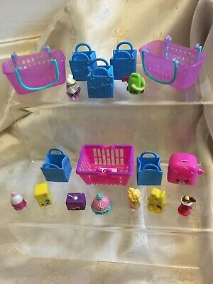 Shopkins Mixed Season with Bag and Baskets Bundle 18 Pieces & List