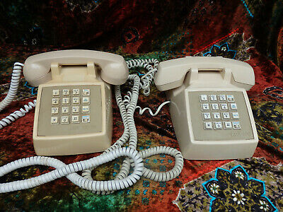 AT&T CS2500DMGF Telephone Touch tone Push Button Desk AT&T 2 100 & 100EB vintage
