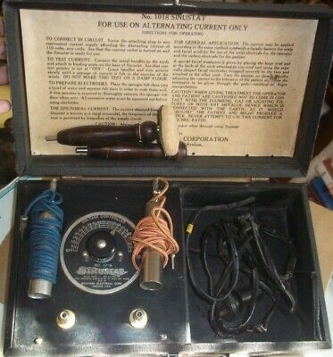 Vintage Antique McIntosh Sinustat Electric Current Medical Device Quack Doctor