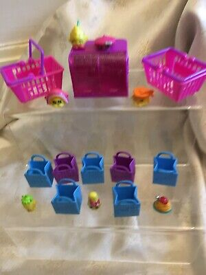 Shopkins Mixed Season and Baskets 9 Large & Small Bundle 17 Pieces In Total