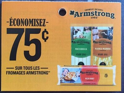 Lot of 20 x 0.75$ Armstrong Products Coupons Canada