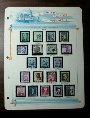 US Old Album Page Stamp Scott #  1278-1295 Prominent Americans 1965-78  MNH L308