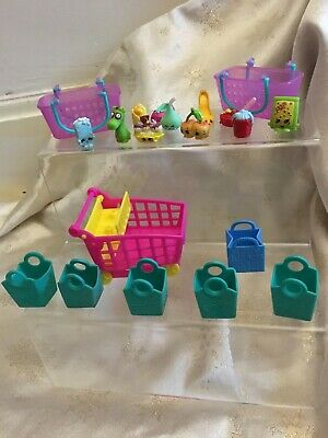 Shopkins Mixed Season 8 Large & Small Baskets, Trolley Bundle 20 Pieces In Total