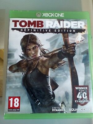 Xbox One Tomb Raider Definitive Edition Lara Croft Video Game Official Pal