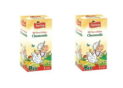 Camomile Tea for Babies from 1st Week of Age. Pack of 20 Filter teabags. Set of