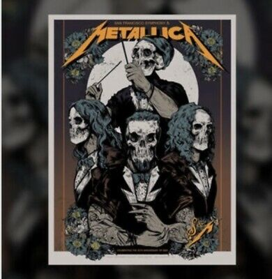Metallica S&M2 Night 1 Chase Center San Francisco Poster Also Includes Setlist