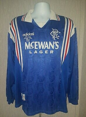 "Glasgow Rangers 1996 ""Laudrup Cup Final"" Shirt by Adidas. The famous home shirt."