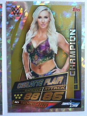 Topps Slam Attax Universe Charlotte Flair  Champion Card Comb P&P