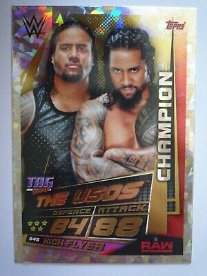 Topps Slam Attax Universe The Usos Champion Card Comb P&P