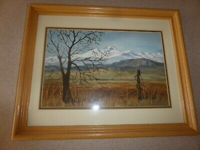 Mary Weiss, MA Artist Watercolor Painting Signed Framed 7.5x11""