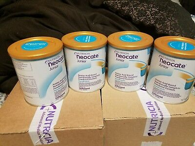 Neocate Junior, Unflavored, 14.1 oz 4 cans.  Hypoallergenic baby formula powder