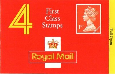 GB QEII 1990 Barcode NVI Cyl Booklet (4 x 1st Class) - HB3d
