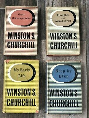 Winston Churchill 4 Books, My Early Life, Step by Step, Contemporaries, Thoughts