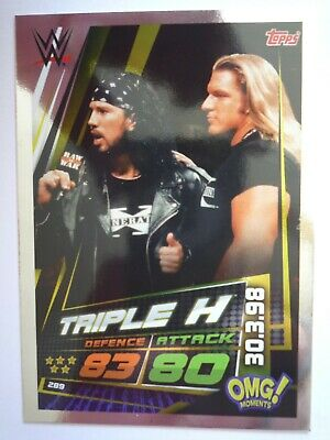 Topps Slam Attax Universe Triple H Omg Card Comb P&P