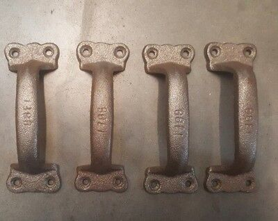 Set of 4 Rustic Handles for Barn Door or Gate Pull, antique looking cast iron